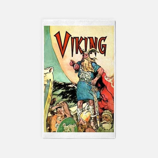 Vintage Viking 3'x5' Area Rug