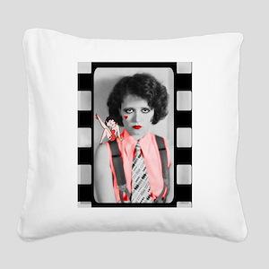 Clara Bow Gotta Love An It Girl Square Canvas Pill