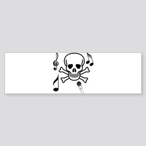 Skull and Crossbones Singing Bumper Sticker