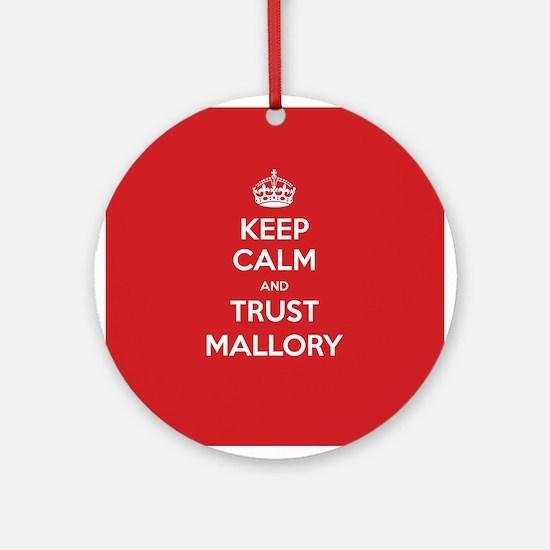 Trust Mallory Ornament (Round)
