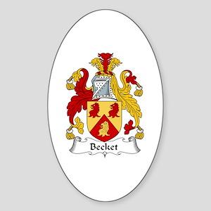Becket Oval Sticker