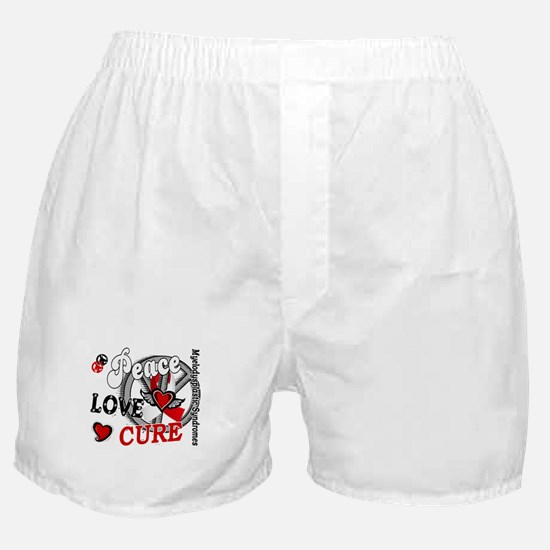 MDS Peace Love Cure 2 Boxer Shorts
