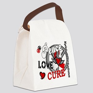 MDS Peace Love Cure 2 Canvas Lunch Bag