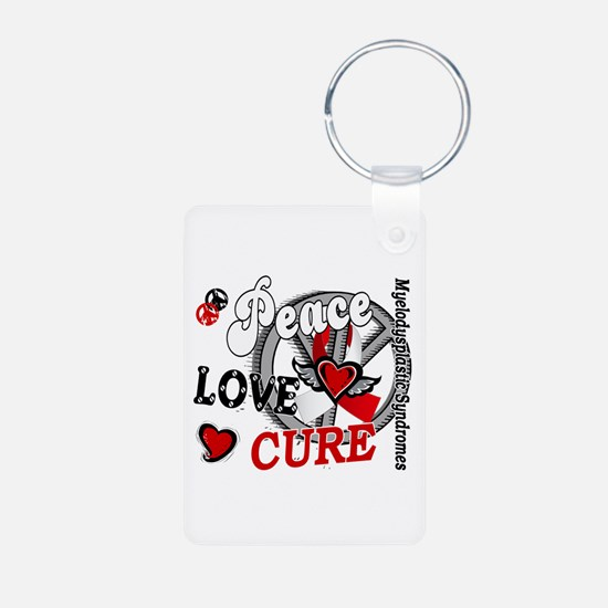 MDS Peace Love Cure 2 Keychains