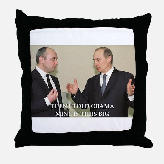 anti obama joke Throw Pillow