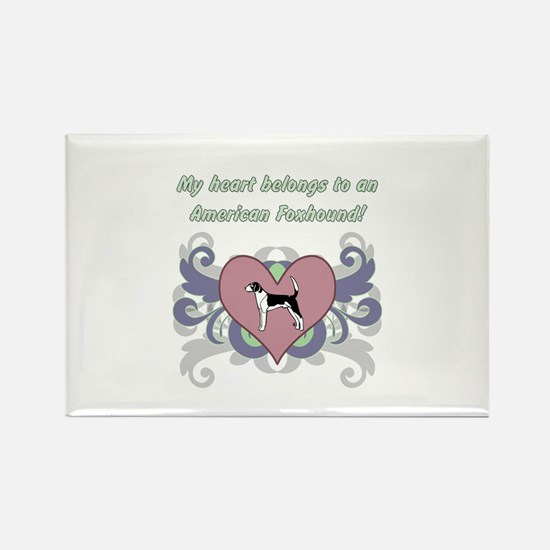 My heart belongs...Ame Rectangle Magnet (100 pack)