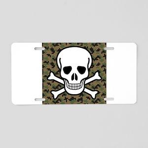 Skull and Crossbones Aluminum License Plate