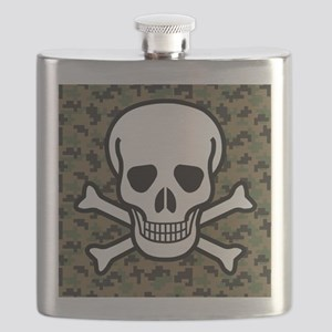 Skull and Crossbones Flask