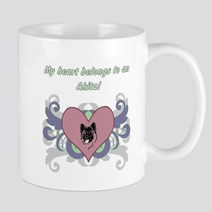 My heart belongs...Akita Mug