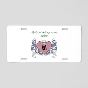 My heart belongs...Akita Aluminum License Plate
