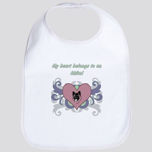 My heart belongs...Akita Bib