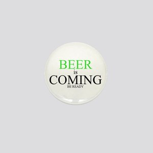 BEER is COMING Mini Button