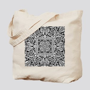 Art Deco Geo Floral Tote Bag