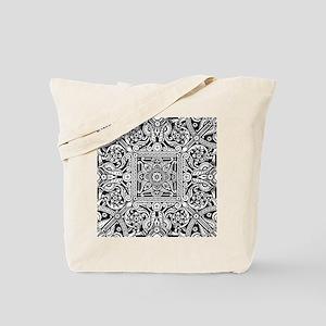 Art Deco Geo Floral Tote Bag