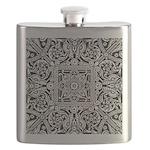 Art Deco Geo Floral Flask