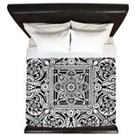 Art Deco Geo Floral King Duvet