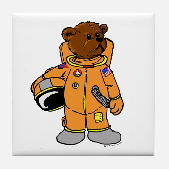 Buzz the Astronaut Bear Tile Coaster