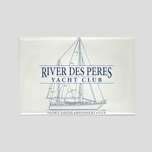River Des Peres Yacht Club - Rectangle Magnet