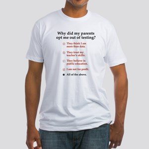Opt out of the test Fitted T-Shirt