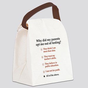 Opt out of the test Canvas Lunch Bag