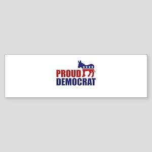 Proud Democrat Donkey Logo Bumper Sticker