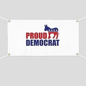 Proud Democrat Donkey Logo Banner