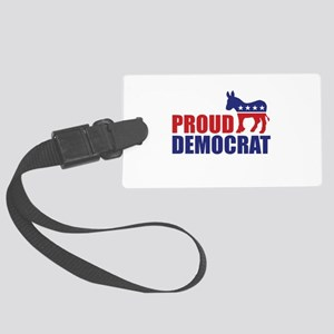 Proud Democrat Donkey Logo Luggage Tag