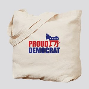 Proud Democrat Donkey Logo Tote Bag