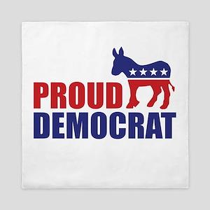 Proud Democrat Donkey Logo Queen Duvet