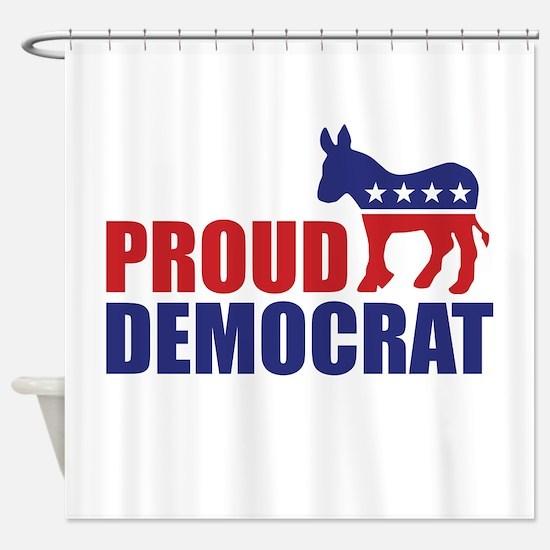 Proud Democrat Donkey Logo Shower Curtain