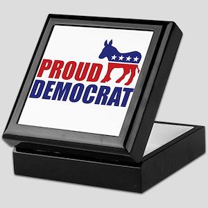 Proud Democrat Donkey Logo Keepsake Box