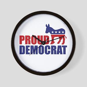 Proud Democrat Donkey Logo Wall Clock