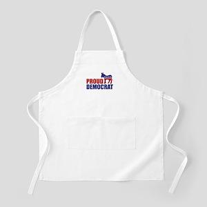 Proud Democrat Donkey Logo Apron