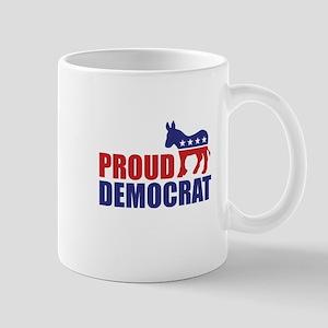 Proud Democrat Donkey Logo Mugs