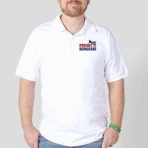 Proud Democrat Donkey Logo Golf Shirt