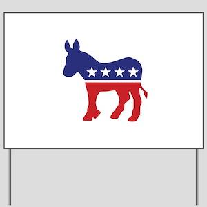 Democrat Original Donkey Logo Yard Sign
