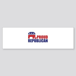 Proud Republican Elephant Logo Bumper Sticker