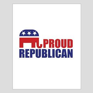 Proud Republican Elephant Logo Posters
