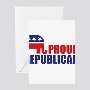 Proud Republican Elephant Logo Greeting Cards