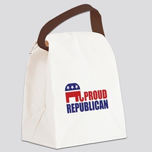 Proud Republican Elephant Logo Canvas Lunch Bag