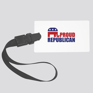 Proud Republican Elephant Logo Luggage Tag