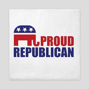 Proud Republican Elephant Logo Queen Duvet