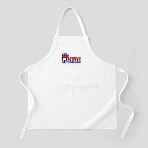 Proud Republican Elephant Logo Apron