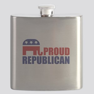 Proud Republican Elephant Logo Flask