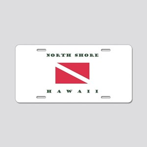 North Shore Hawaii Dive Aluminum License Plate