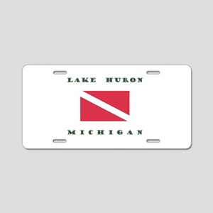 Lake Huron Michigan Dive Aluminum License Plate