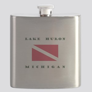 Lake Huron Michigan Dive Flask