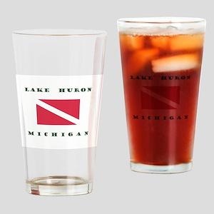 Lake Huron Michigan Dive Drinking Glass