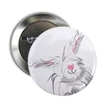 "Bunny smiles 2.25"" Button (100 pack)"