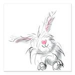 Bunny smiles Square Car Magnet 3